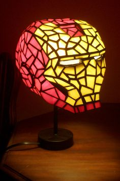 Iron+Man+Stained+Glass+Desk+Lamp+by+3rdEdgeStainedGlass+on+Etsy,+$760.00