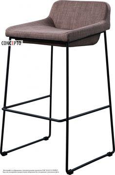 Bar stool Comfy grey by Concepto   Барный стул Комфи серый Concepto #concepto #conceptoukraine #conceptocomua #bar #barstools #chairs #grey #kitchen #livingroom #restaurant #horeca #furniture #modern