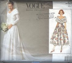 1990s Wedding Dress Pattern Vogue 2768 Party by TheYesterYears