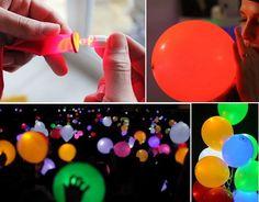 Hoy en manualidades aprender a hacer te traemos esta idea de como puedes hacer globos con luz led para tu próxima velada y dejar de lado las velas.
