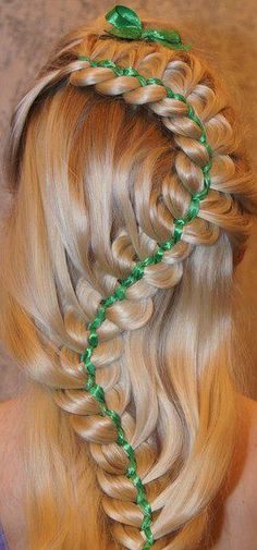 perfect for st. patricks day  beautiful!  #St. Patrick's Day  #hairstyles
