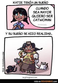Quiero ser Catwoman. Y su sueño se hizo realidad. (Spanish 3 jobs & subjunctive chapter)