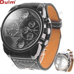 (OULM) Мужские наручные часы с 4 Dials  http://www.cigabuy.com/ru/oulm-male-quartz-wrist-watch-with-four-dials-p-2470.html  Product Features:	  OULM quartz wrist watch for male With four dials to show the time, convenient to use 3 watch hands for displaying time 2 crowns at the flank for adjusting time ,the other crowns just for decoration Great gift for your friends or yourself Used in many places Quartz movement Button cell included Model: OULM-9317