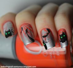 may the devil be with you / Halloween mani (c) I'M FEELING NAIL-VENTUROUS