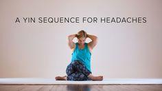 Yin yoga for headaches - 1 hour sequence #migraine