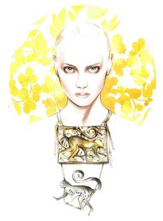 Illustration.Files: Lanvin S/S 2015 Fashion Illustration by António Soares