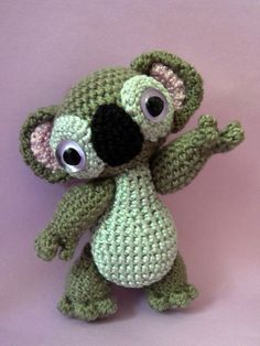 Amigurumi pattern Monty the Koala. $4.00, via Etsy.
