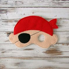 Pirate Mask - Felt - Kids Mask - Costume - Dress Up - Halloween - Pretend Play