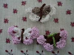 I've seen so many #crochet butterflies lately, it must be the spring season. I bet these are fairly easy to make too.