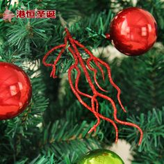 Christmas tree decorations 20x5cm powder christmas dried branches (GHP053)