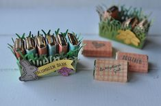 Tutorial: Sechseckbox in Blütenoptik School Treats, All Paper, Easter Crafts, Easter Decor, Cute Food, Stamping Up, Little Gifts, Party Favors, Diy Crafts