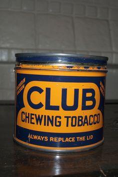 90c2b93ecd4d6b Items similar to Vintage Club Chewing Tobacco Tin on Etsy