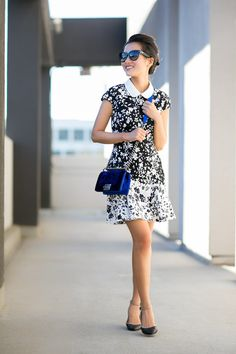 Dress :: Lover  Bag :: Chanel Shoes :: Zara  Accessories :: Prada sunglasses, Deborah Lipmmann 'Single ladies'