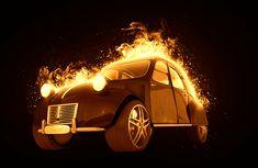 Auto oheň Fire hořící auto animace pohyblivý animovaný gif obrázek zdarma stažení Moving Gif, Beetle, Burns, Antique Cars, Animation, Fire, The Originals, Top, June Bug
