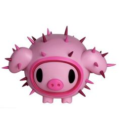 Porcino - Tokidoki  Tokidoki    A newcomer in the Cactus Friends family by Tokidoki, here comes Porcino.    It's such a cute little pig we'd like to hold it against our chest, but because of its spikes, we rather keep it on the shelves. Cutawaï