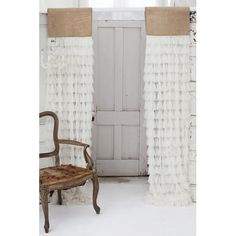 Couture Dreams Chichi and Jute Header Single Curtain Panel & Reviews | Wayfair