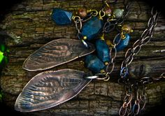 How gorgeous is this!!    Cicada Wing Necklace/ Lariat Necklace/  Chain by DeborahLeeTaylor, $75.00