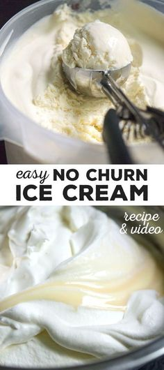You are 3 common pantry style ingredients away from the richest and creamiest homemade vanilla ice cream of your life. No ice cream machine needed! #nomachine #nochurn #icecream #glutenfree #gf