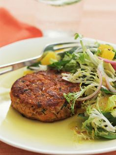 Instead Try: Frozen Turkey Burgers. Frozen food can be super cool, if you choose a frozen turkey burger warmed up and tossed over bagged mixed greens and light dressing.