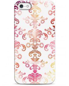 Акварельный узор на белом - iPhone 5 / 5S / 5C Дизайнерские чехлы для iPhone