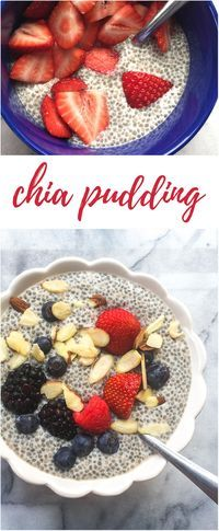 Basic Chia Pudding Recipe - This simple, healthy chia seed pudding makes a wonderful clean eating breakfast, and it's just so easy to whip up!