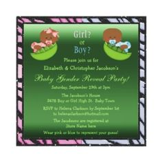 Top 10 African American baby Gender Reveal party invitations.