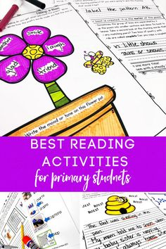 This bundle includes reading activities to help you teach poetry analysis, nonfiction text features, open and closed syllables, magic e as a syllable, punctuation, and so much more! As a special bonus, I have included 13 reading response pages that can be used for reading comprehension. Phonics Activities, Reading Activities, Punctuation Posters, Nonfiction Text Features, Fluency Practice, Teaching Poetry, 1st Grade Writing, Alliteration, Reading Response
