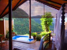 At the following three resorts, you can take in the rugged Caribbean scenery without having to technically leave your room to take in the outdoors.     blisshoneymoons.com
