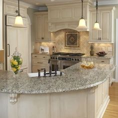 kitchen. kitchen with curved island. kitchen with curved island