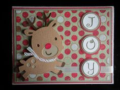 Cricut Create-A-Critter Christmas Card - Rudolph
