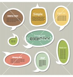 Collection of speech bubbles vector 911860 by Dzha