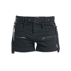 Blooms Punk Gothic Women Plaid Buckle Zipper Shorts (26.000 CLP) ❤ liked on Polyvore featuring shorts, zipper shorts, tartan shorts, plaid shorts, punk rock shorts and buckle shorts