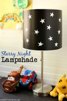 Easy Starry Sky Lamp Tutorial.  Great for kids rooms! #LEDSavings #shop