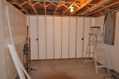 Applying Finishing Touches to Concrete Foundation Walls & HOW TO INSTALL FURRING STRIPS TO CONCRETE BASEMENT WALLS - http ...