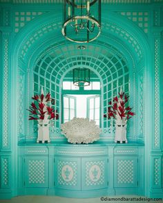 Love how the details pop in this turquoise Anthony Baratta design!