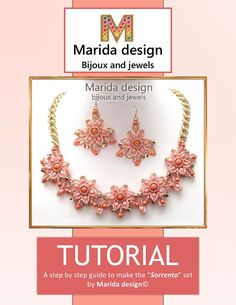 Sorrento is a lovely town in Italy (near Naples) which is famous for the corals, in particular for the rose one. My set reminds that color and the jewels made there with the corals. This tutorial comes with rich 22 pages of illustrations and photos that will guide you to easily make this set made with a lovely tone on tone coral color roses. Try to make it in another color combo: look at the example in the photo. The Bolero variant is made with a red, black, gold and bronze palette that…