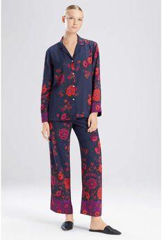 23e0c736b88 Natori Botanica Floral Print Silky Charmeuse Pajamas   Floral Botanica Natori Pajama Set