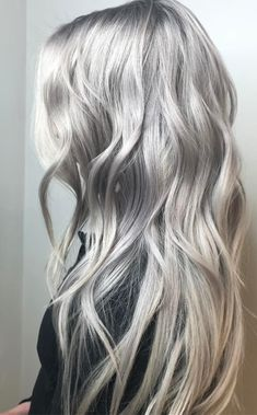 Aveda Artist Dee created this icy silver, lilac hair color.