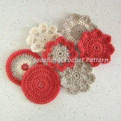 Flower Coasters Crochet Pattern