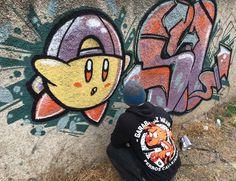 #ztatik #slclik2016   #garabatozwear  #kirby  #nintendo  #graffitiart #graffitichileno #draw #mtn94 #villaalemana #huanhuali #dinamarca  @sl.crew  @garabatoz_wear  by ztatikman