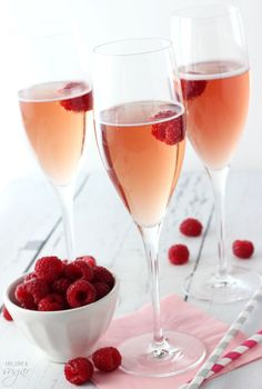Blackberry Champagne Bellini