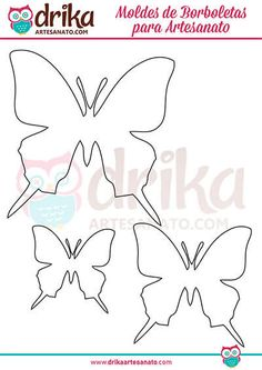 {Free Templates} More than 130 butterfly shapes in different sizes and shapes! - Diy and Crafts Mix Easter Crafts For Kids, Diy For Kids, Butterfly Shape, Diy Easter Decorations, Scandinavian Christmas, Different, Decoupage, Diy And Crafts, Christmas Wreaths