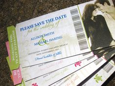 Destination Wedding Save the Date Boarding Pass by SZYDesigns
