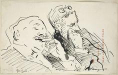 John Singer Sargent - Sketch Of Sir David Murray (1849 - 1933) And John Seymour Lucas (1849- 1923)