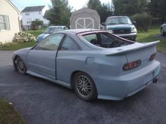 Ryans 2000 integra type-r jdm swap 240sx front Conversion full wide body with Toyota Supra tail lights before paint