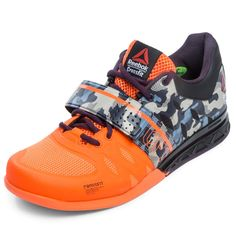 This lifting shoe in Electric Peach, Black, and Camo balances power and agility for a well-rounded CrossFit workout that involves various movements. Get yours today!