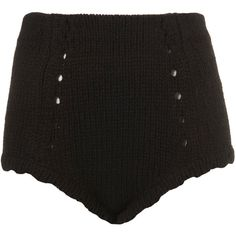 Knitted Pants By Boutique ($40) ❤ liked on Polyvore featuring shorts, bottoms, pants, short, black, women, black high waisted shorts, black short shorts, highwaist shorts and highwaisted shorts