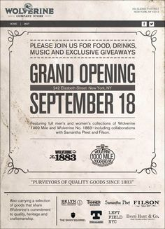 wolverine 1000 mile shop grand opening flyer