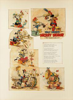 El primer dibujo animado de Mickey Mouse en color fue «The Band Concert»