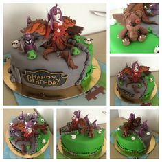 Gateau speculoos  League of legends LoL League of legends cake Morgana, sbires, tibbers